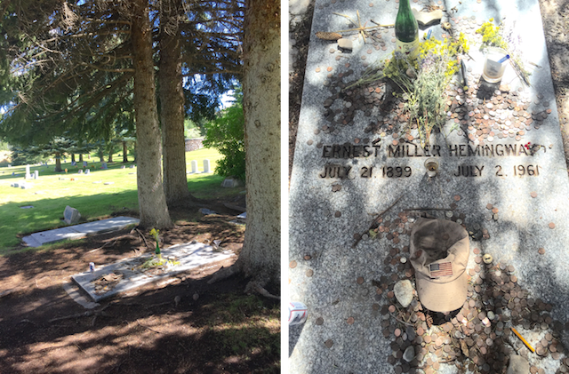 Hemingway's Grave in Sun Valley, Idaho