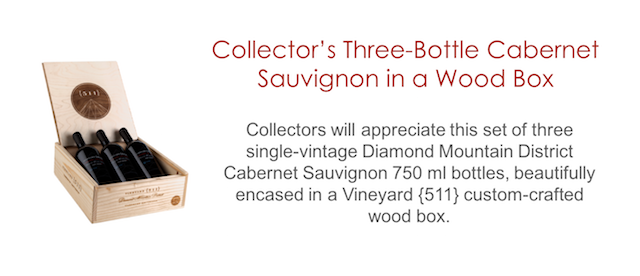 Vineyard {511} Three-bottle Set in Wood Box
