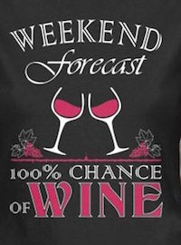 Weekend Forecast - 100% Chance of Wine!