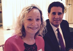 Irene Ojdana and Ambassador Ron Dermer