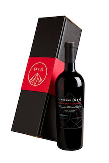 One 2014 Cabernet Sauvignon Bottle in a Gift Box Image